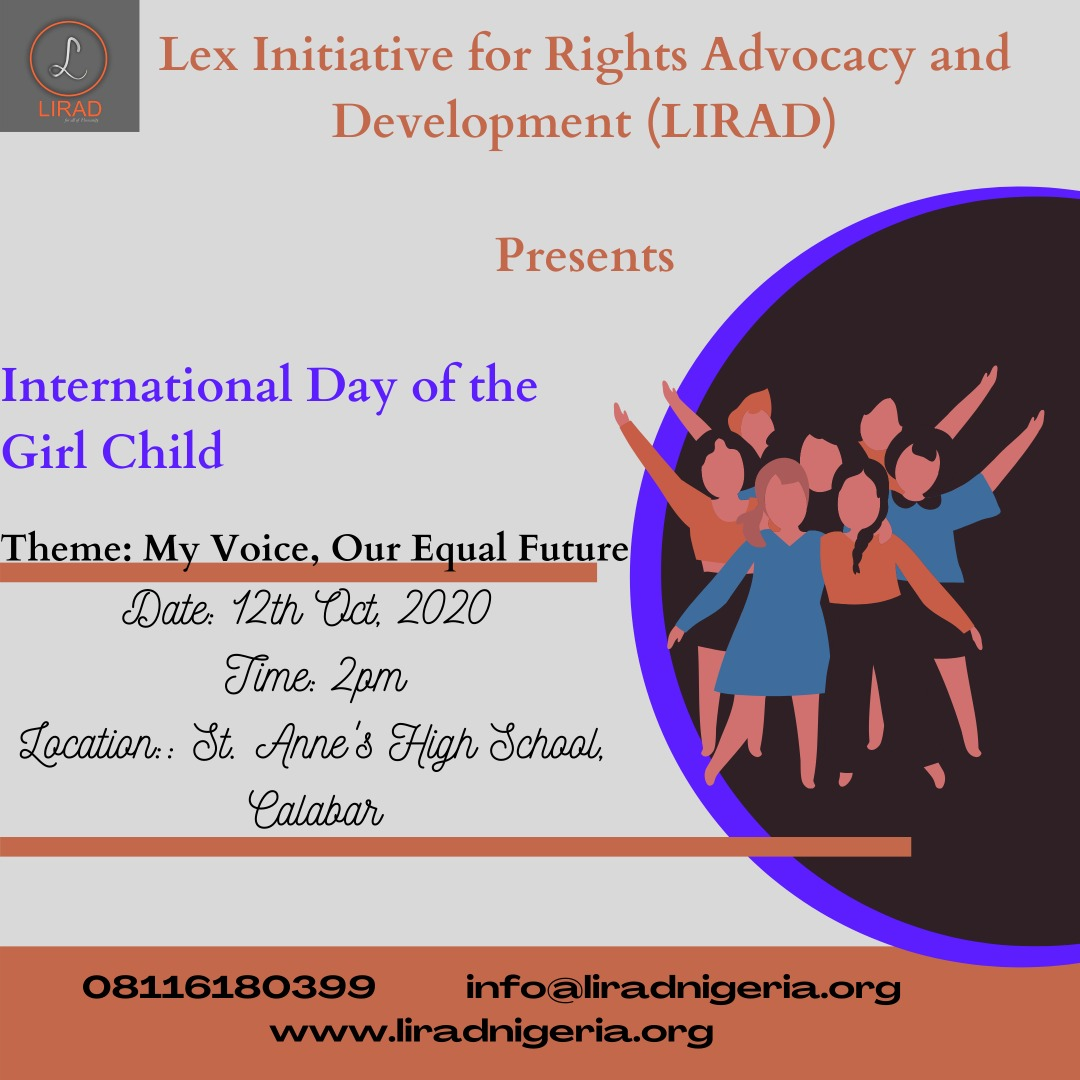 Advocacy on International Day of the Girl Child 2020: My Voice, Our Equal Future